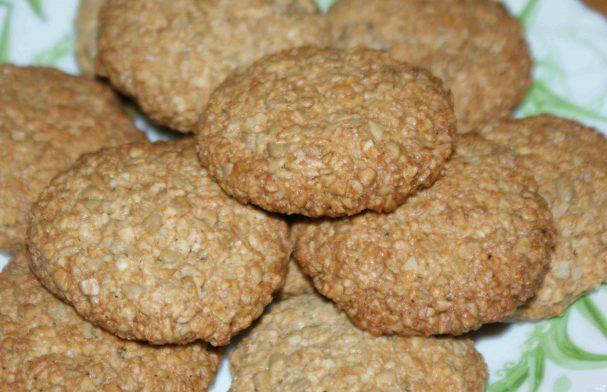 Овсяное печенье с семечками