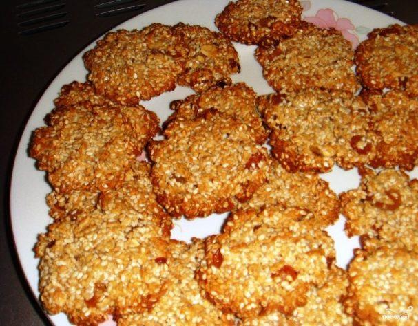 печенье с грецким орехом и кунжутом рецепт