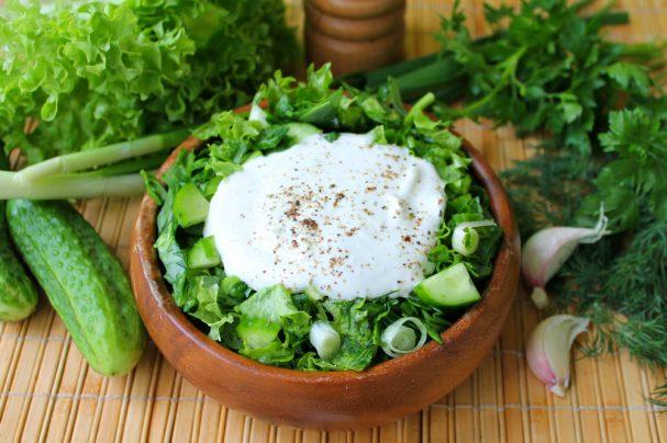 "Салат ""Молодо-зелено"""