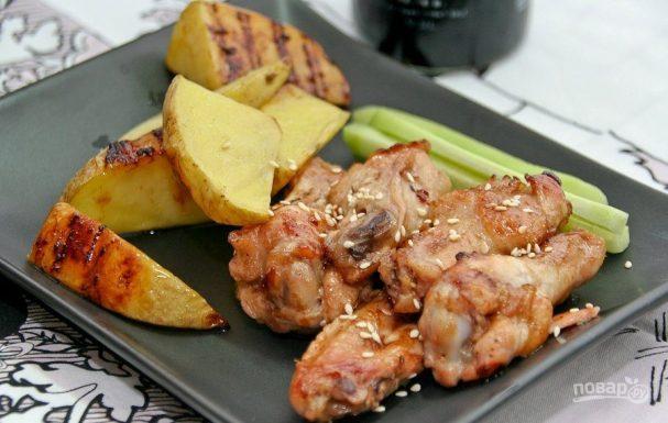 Курица в соусе терияки в духовке