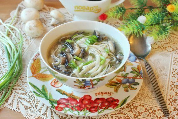 Грибной суп по-китайски