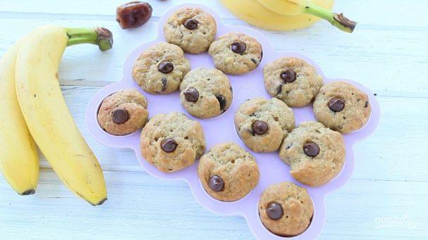 Банановые маффины без сахара