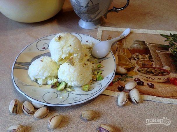 Итальянское мороженое с оливковым маслом