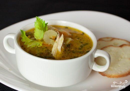Суп из сельдерея черешкового