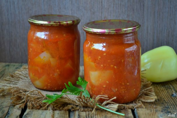 Перец в томатном соке на зиму