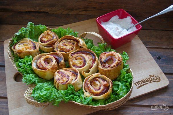 Запеченные булочки с ветчиной и сыром