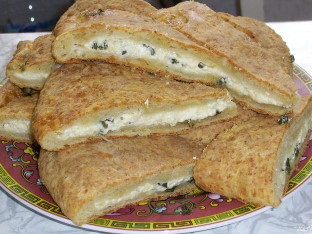Хачапури с творогом и сыром в духовке