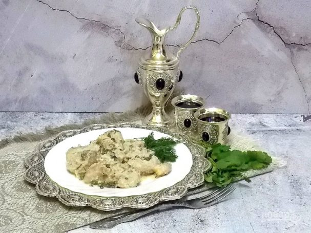 Тушеное мясо по-грузински.