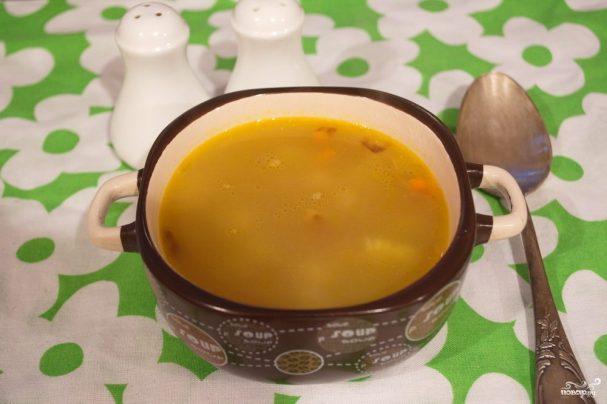 Суп с курицей гриль