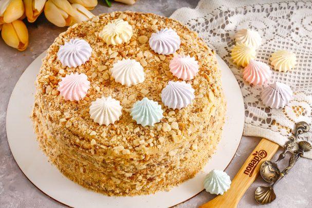 """Торт """"Наполеон"""" с безе"""