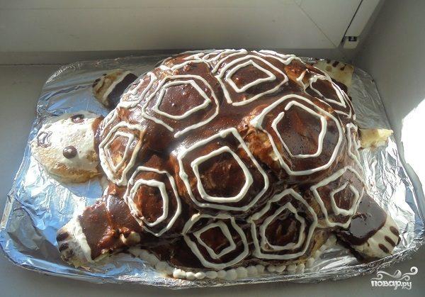 Тортик черепаха рецепт с фото пошагово