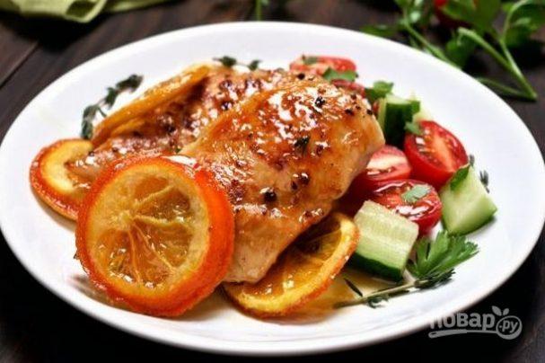 Жареное филе курицы