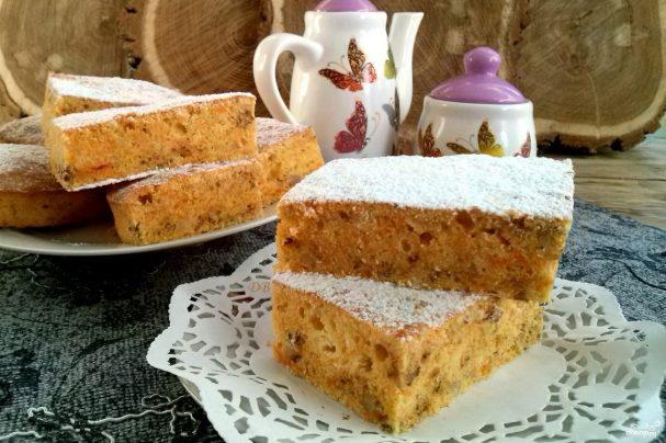 Сладкий пирог из тыквенного пюре - рецепт пошаговый с фото