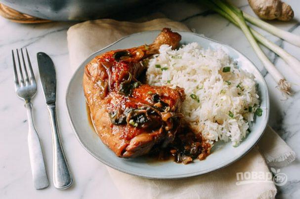 Курица в устричном соусе