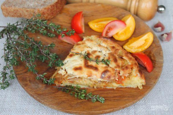Картофельный пирог с капустой