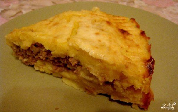 Картошка со свининой и сыром в духовке