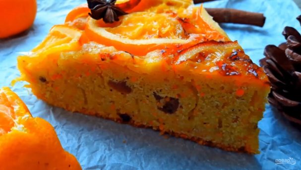 Простой пряный пирог с морковью и апельсинами