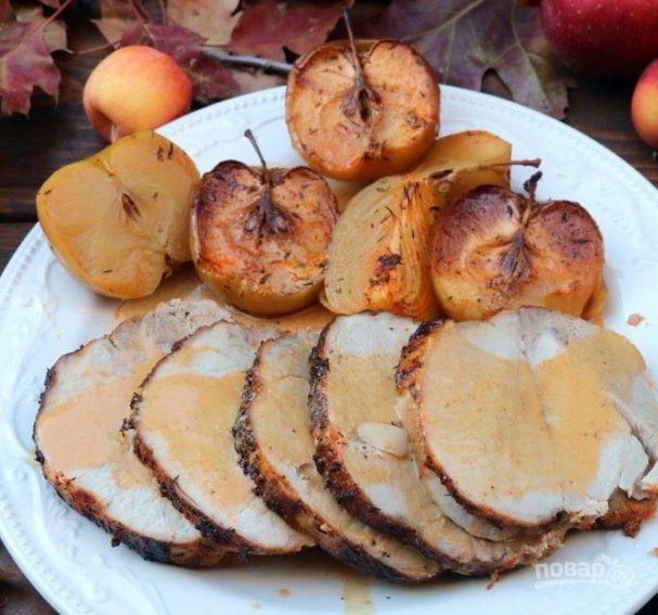 Рулет свиной с яблоками — 5