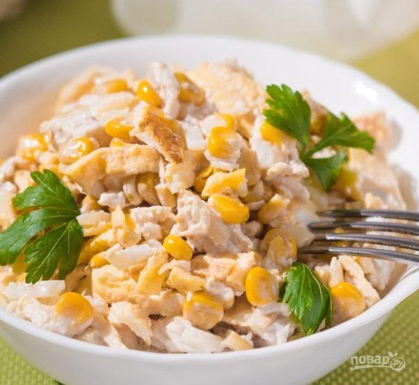 """Рецепт салата """"Нежность"""" с курицей"""