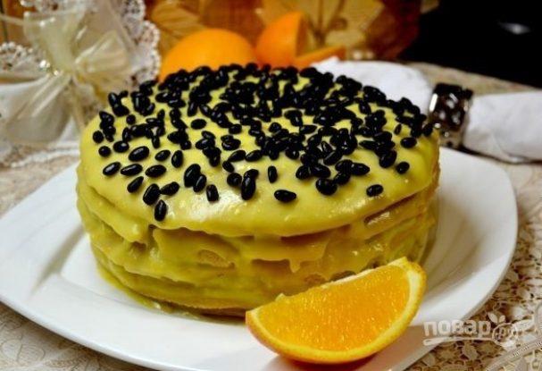 Простой и вкусный кефирный торт