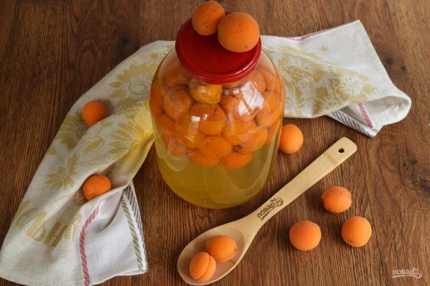 Компот из абрикосов на зиму (очень простой)