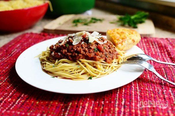 Соус к спагетти с фаршем