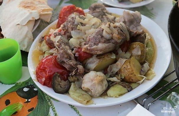 Буглама из баранины по-азербайджански