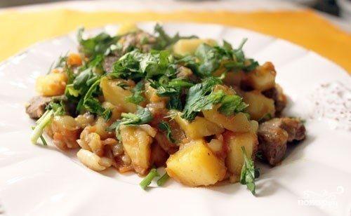 Рагу с бараниной и картошкой