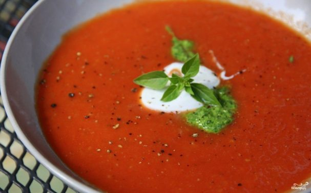 Сербский томатный суп