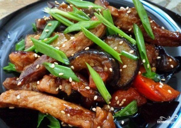 Мясо с овощами рецепт из свинины #8