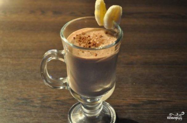 как приготовить бананово шоколадный коктейль