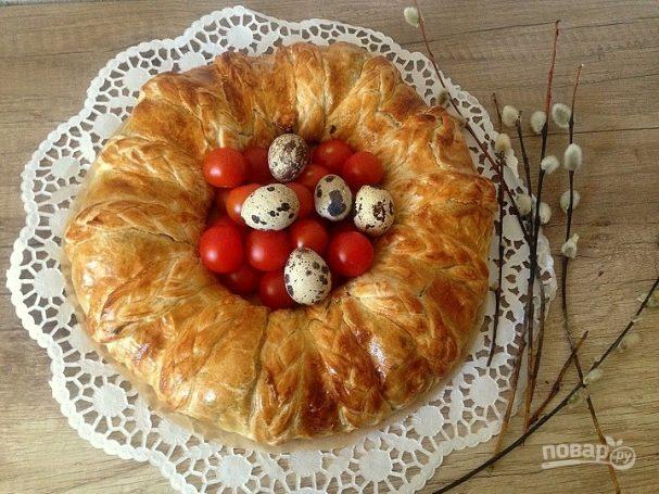 Пирог к Пасхе из слоеного теста