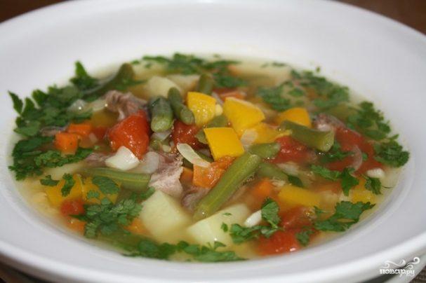Суп из баранины с фасолью