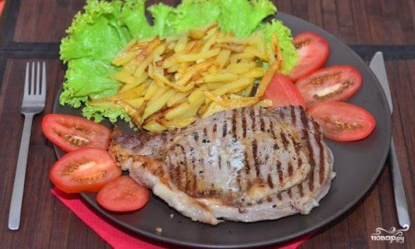 Мясо на сковороде-гриль