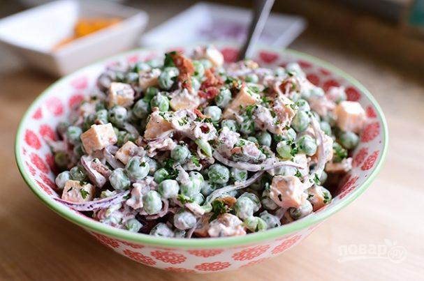 салат с горохом легкие рецепты