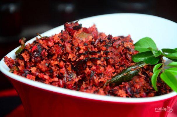 Соус к гарнирам из красного шпината