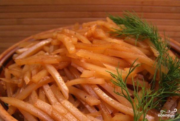 Салат картофельный корейский