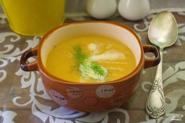 Рыбный суп-пюре со сливками