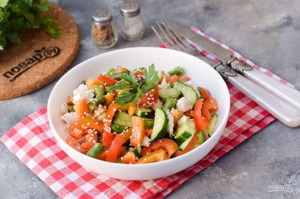 Салат со стручковой фасолью без майонеза
