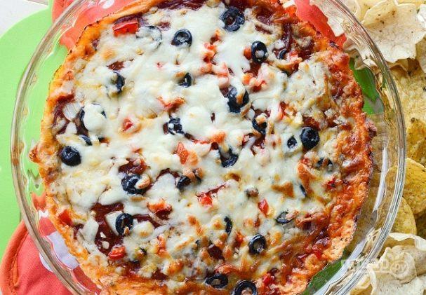 Дип из сыра и томатного соуса