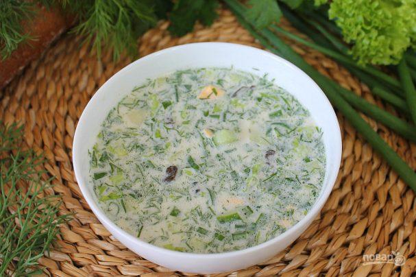 Грибной холодный суп