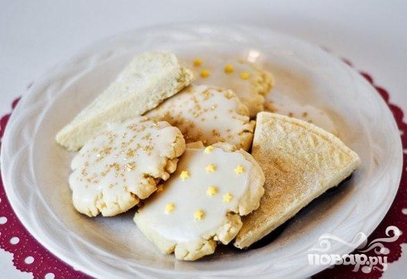 Масляное печенье с глазурью
