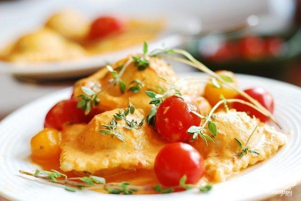 Равиоли со шпинатом и сыром