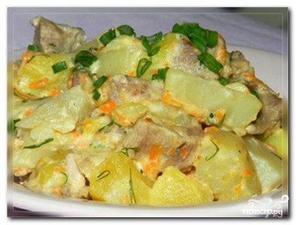 Картофель с говядиной в мультиварке