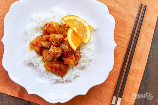 Курица по-китайски в сладеньком соусе
