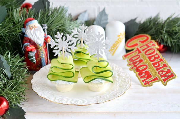 "Новогодняя закуска ""Ёлочки"""