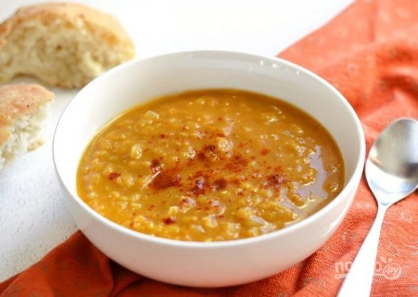 Суп из тыквы и чечевицы
