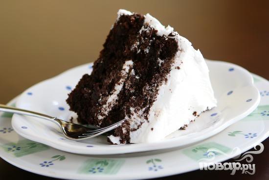 Шоколадный пирог со сливочным кремом