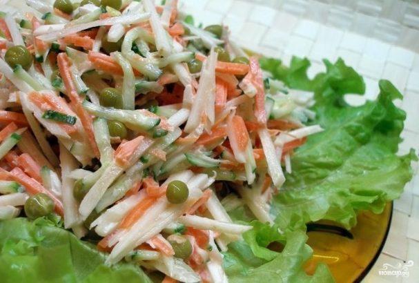 Салат из топинамбура с морковью