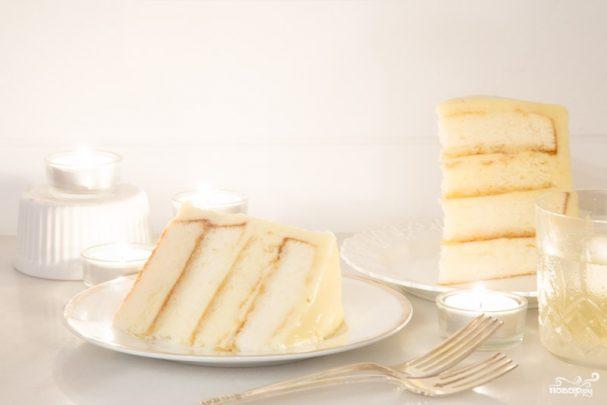 Белый шоколадный торт